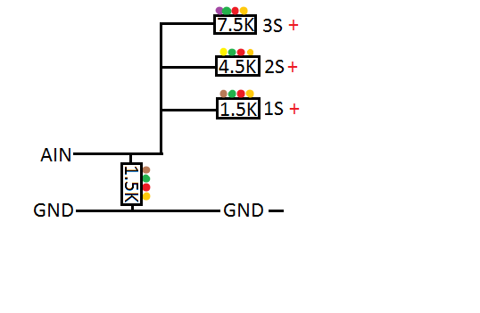 analog input to monitor battery 1s-3s circuit Basic FrSky