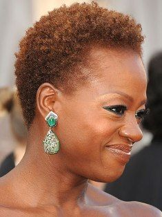 Viola Davis Beautiful Short Natural Do With Color African