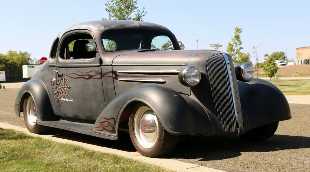 1936 Chevrolet 5-window Coupe Hot Rod presented as Lot F28 1 at
