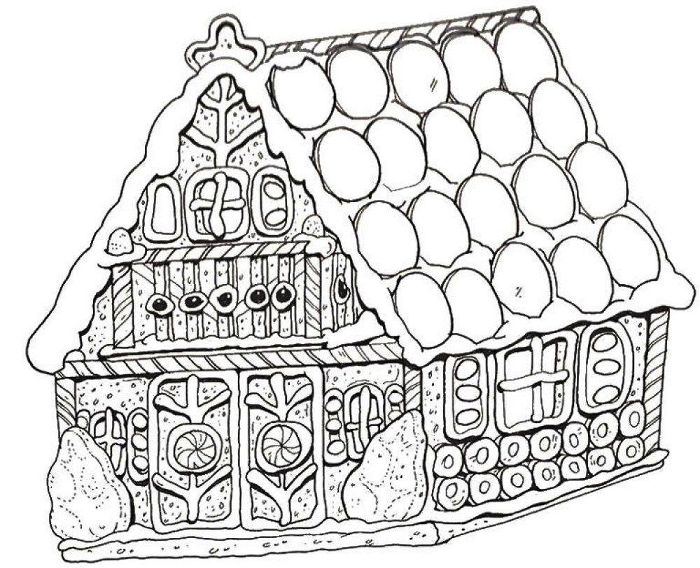 Gingerbread House Dengan Gambar