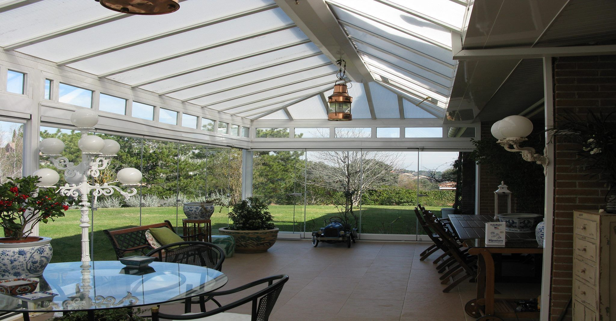 Avance de terraza estructura de aluminio con cobertura de - Estructuras de aluminio para terrazas ...