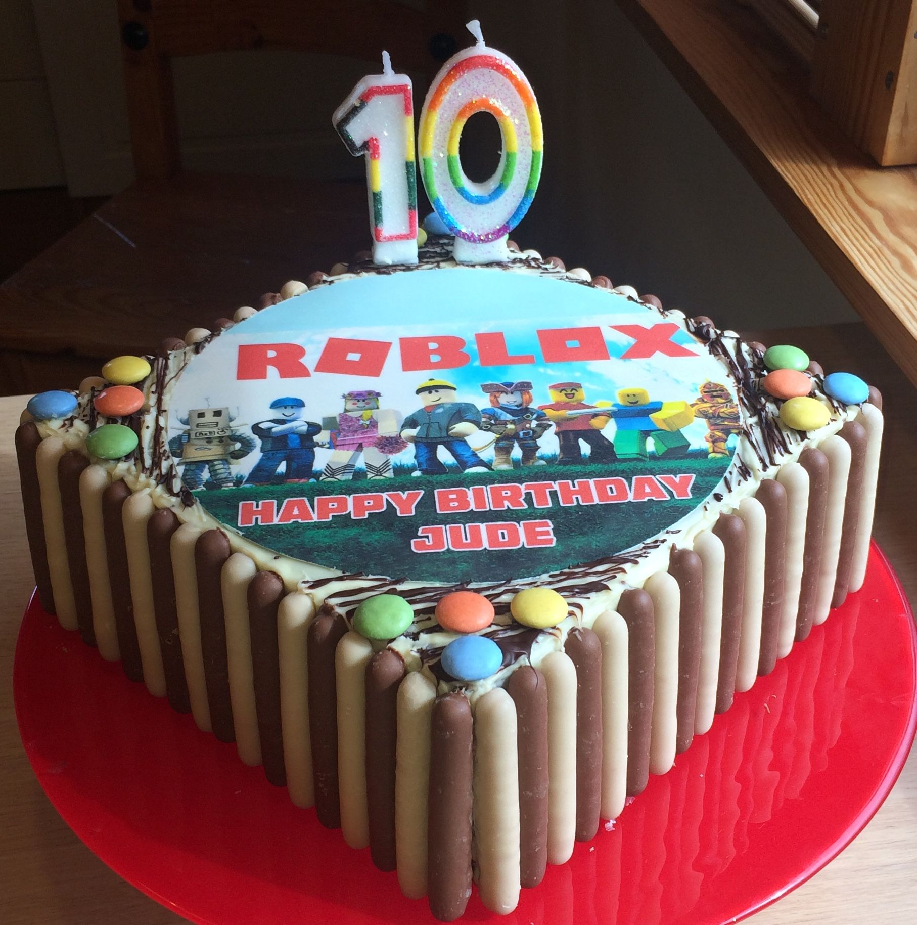 Roblox Birthday Cake For My 10 Year Old Son With Images Roblox