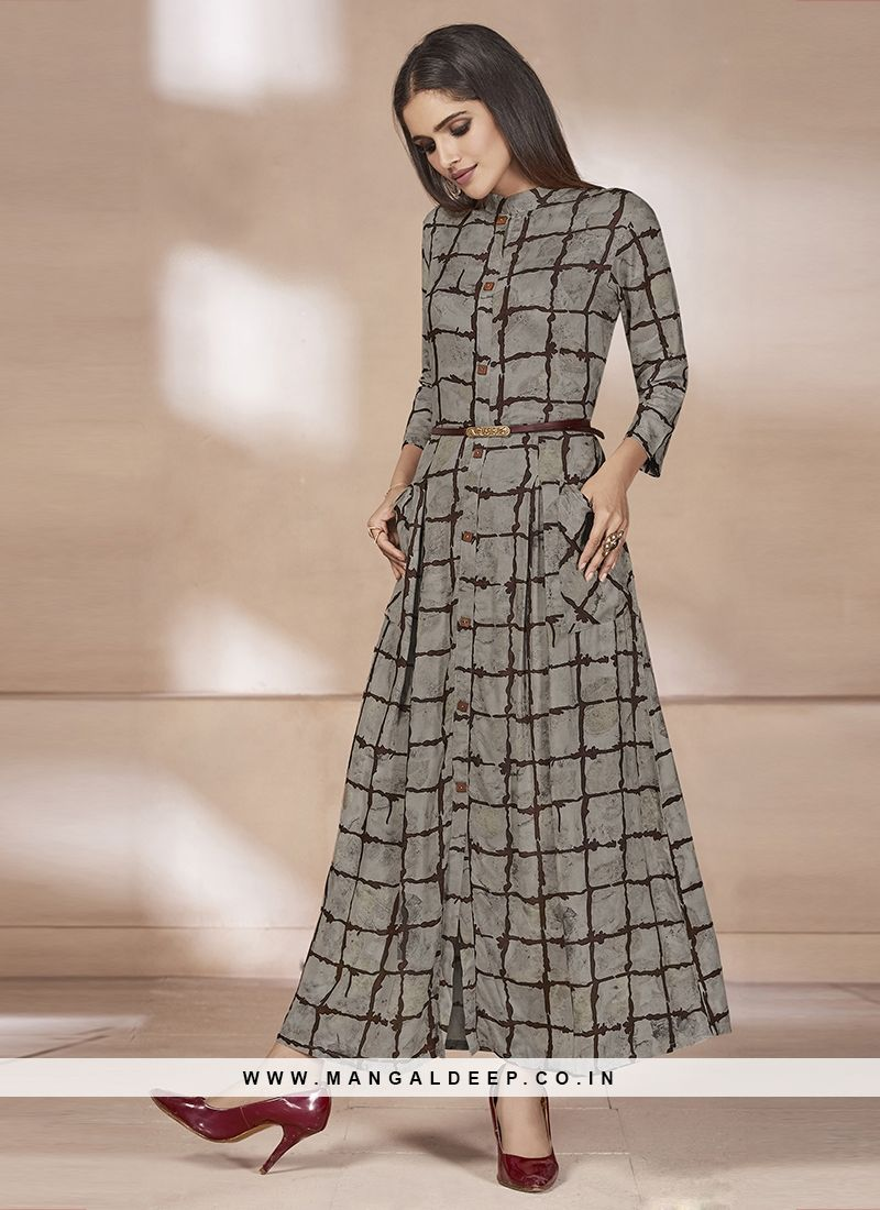 d4545f16c50 Printed Daily Wear Grey Color Rayon Kurti  grey  rayon  kurti. Buy Online  Latest Kurtis Collection ...