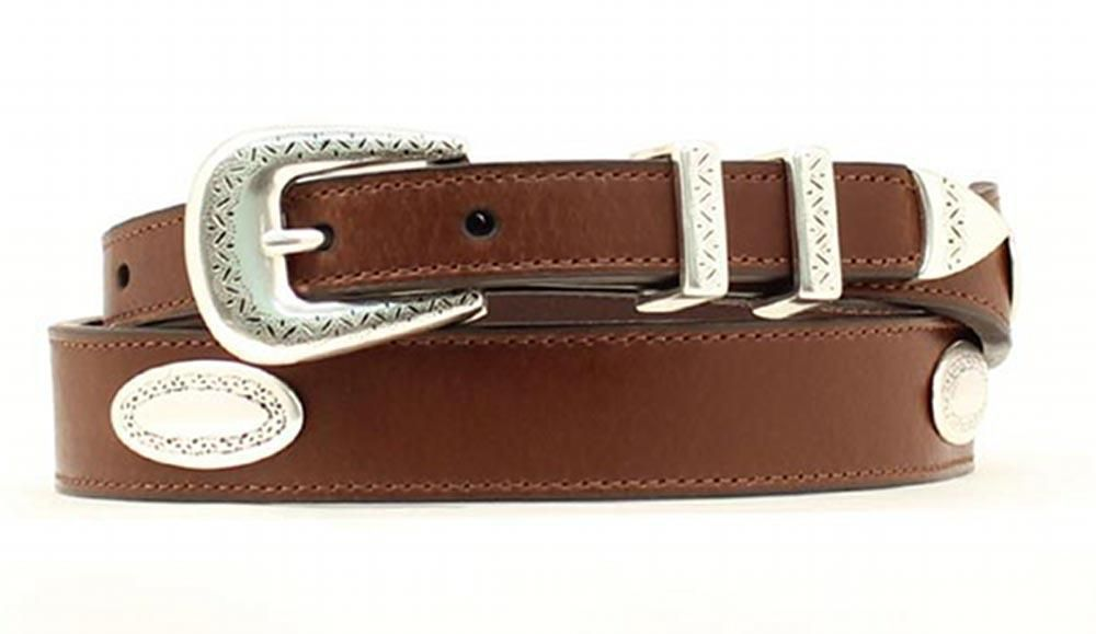 Boucles De Ceinturon · Ceintures Pour Homme · Le Cuir Pour Hommes · Nocona  Top Hand Western Mens Belt Tapered Leather Conchos Brown N2476602   eBay d818e9e2452