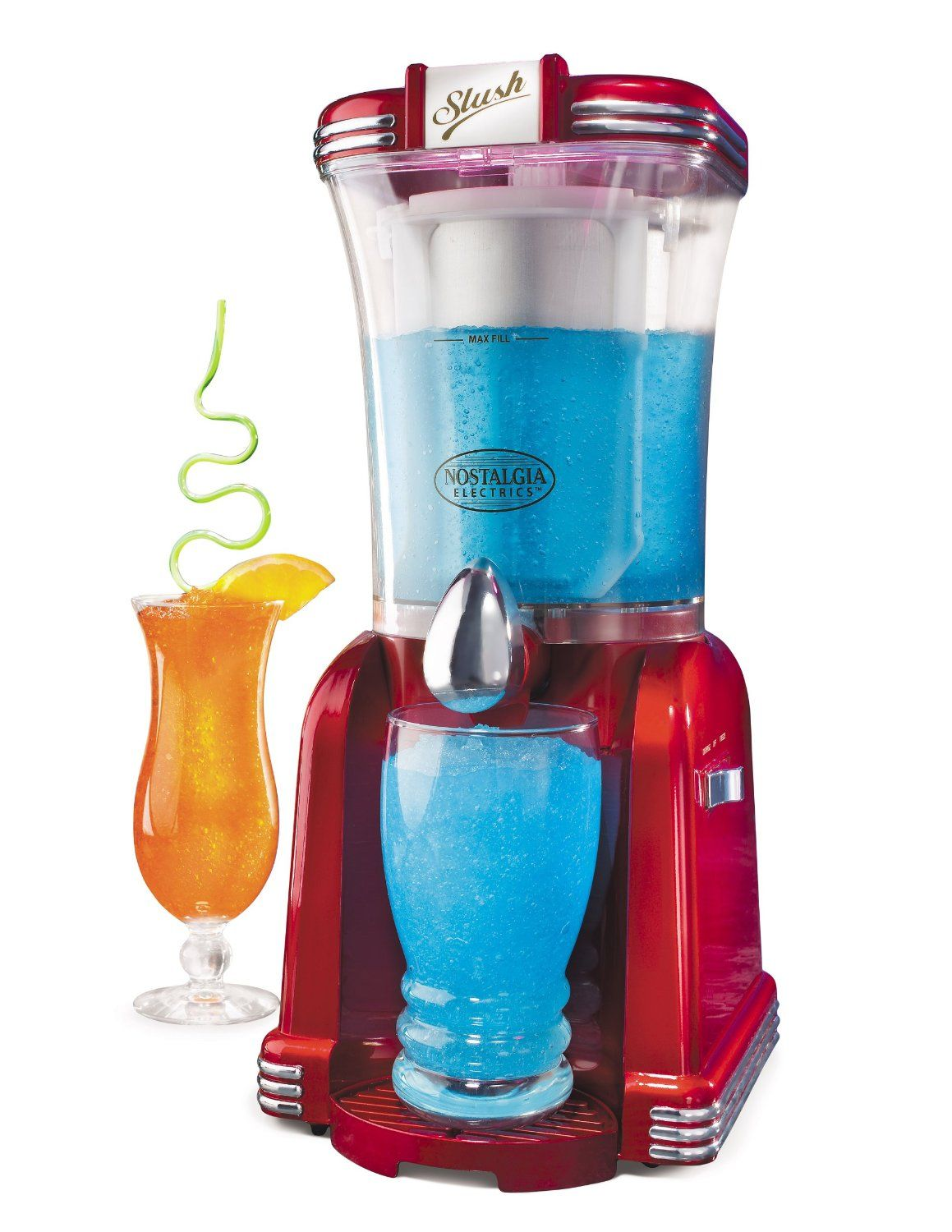 amazoncom nostalgia electrics rsm650 retro series slush machine shaved ice machines