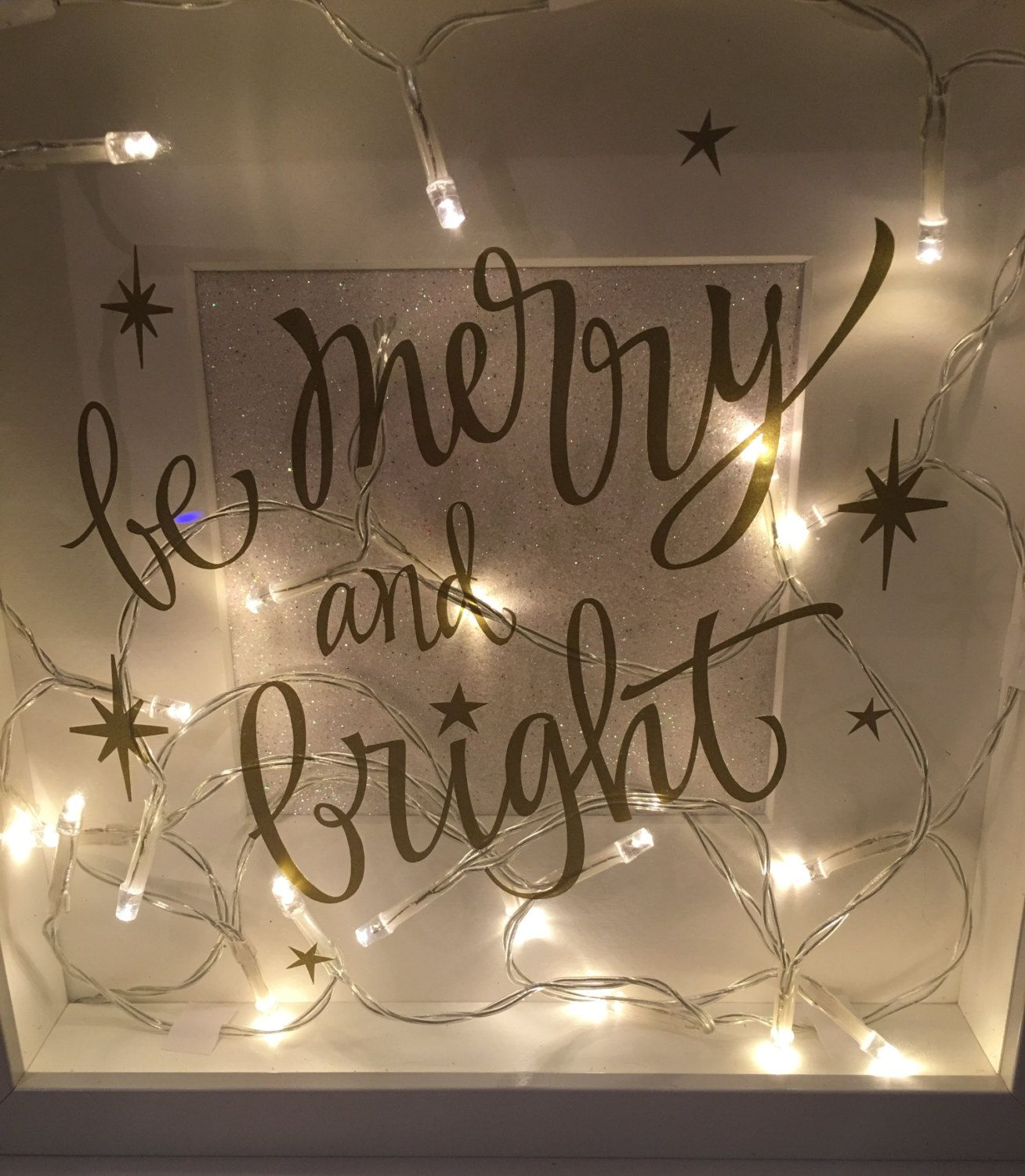 Festive Light Up Christmas Box Frame By Emmyloucrafts On Etsy