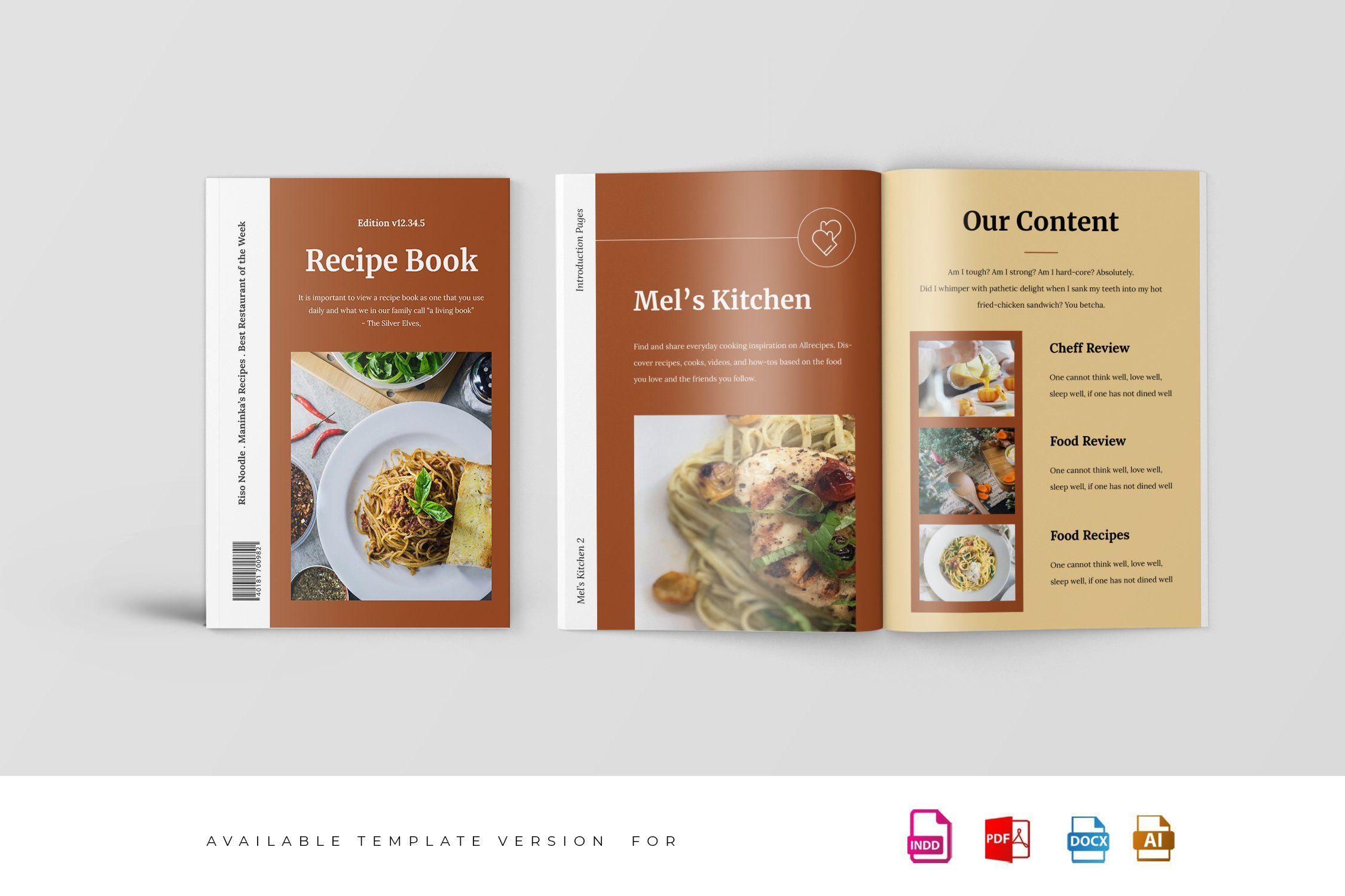 Recipe Magazine Template Magazine Template Indesign Templates Restaurant Website Design