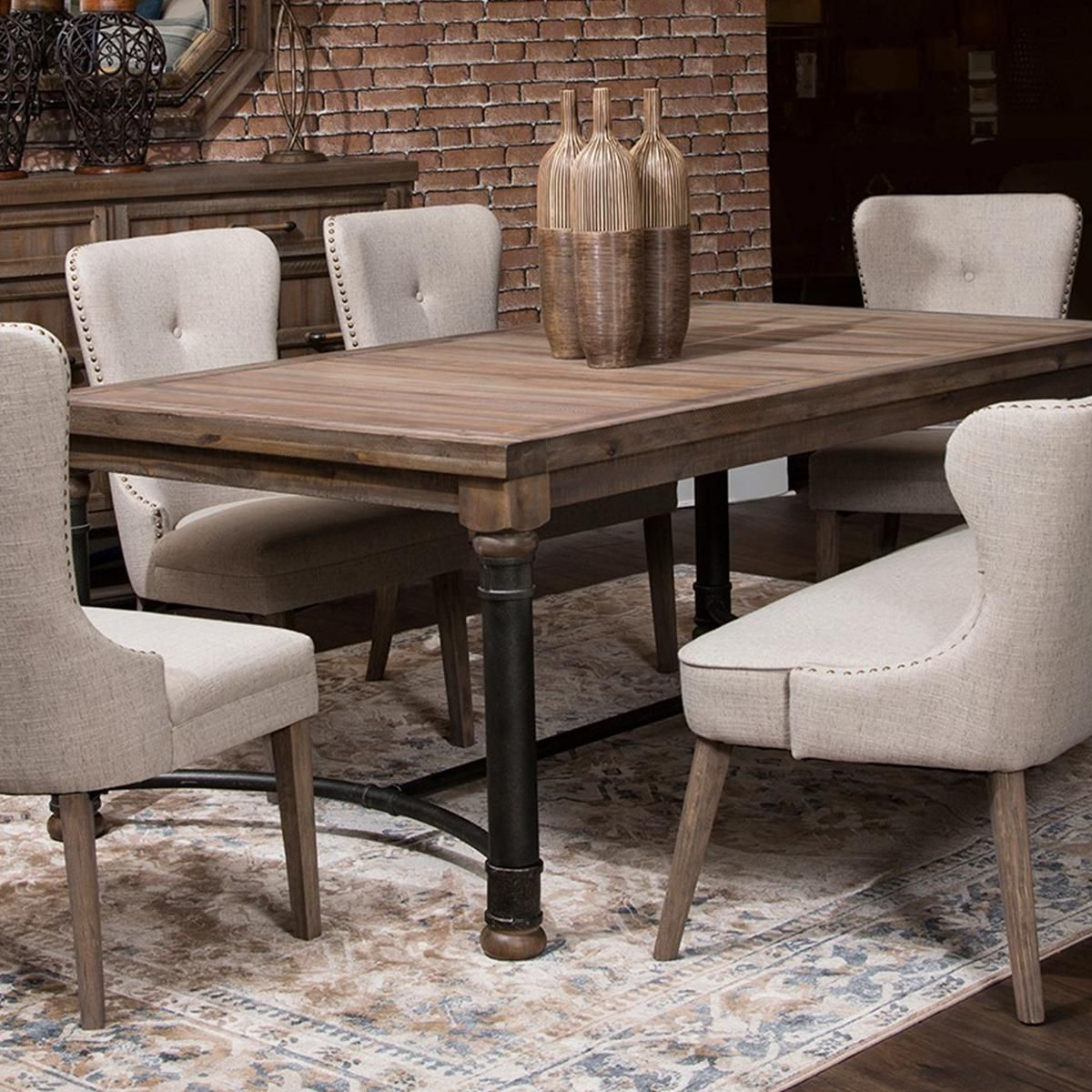 Crossings Rectangular Dining Table In Reclaimed Barn Table Only