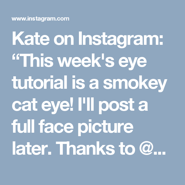 "Kate on Instagram: ""This week's eye tutorial is a smokey cat eye! I'll post a full face picture later. Thanks to @kjellholmes for requesting an eye with the @urbandecaycosmetics Naked 2 palette. Remember that if you're feeling uninspired with a certain palette, you can always ask me to take a crack at it. And if you post a recreation, tag me. I love seeing them! 1. Blend Tease to the outer half of the crease and blend out, following the shape of the crease. 2. With an angled brush, apply…"
