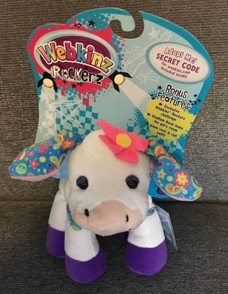 Ganz Webkinz Rockerz Cow Stuffie Secret Online Code New w ...