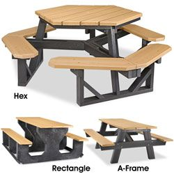 Recycled Plastic Picnic Tables In Stock Uline Picnic Table