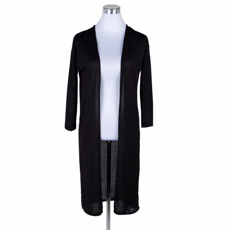 be148c295fa Dámský dlouhý cardigan černý – SLEVA 30% + POŠTOVNÉ ZDARMA Na tento produkt  se vztahuje