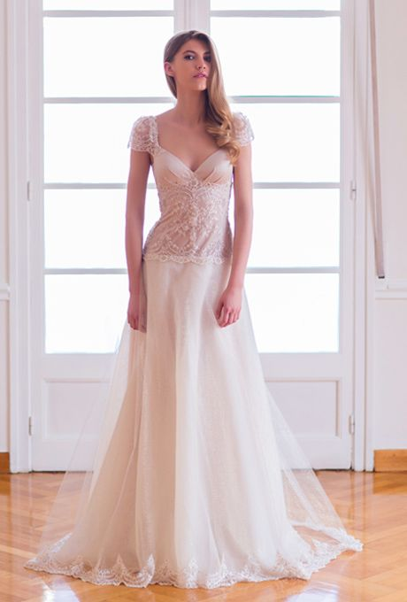 Amelie Luxurious Romantic Low Back Wedding Dress Made Of