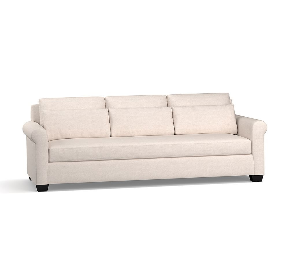 linen bench cushion sofa arhaus dune sectional york roll arm upholstered deep seat 84 with grand 98 down blend