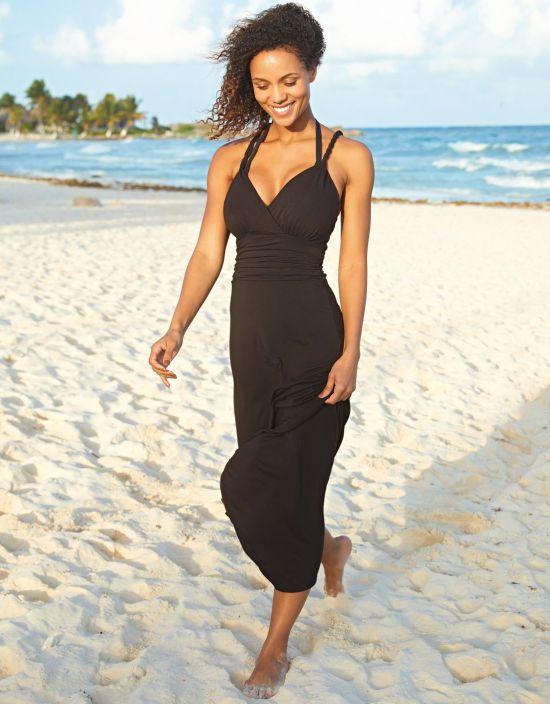 49c603d8fcdd6 Maxi Twist Back Beachdress Maxi Beachdress in Black by Bravissimo ...