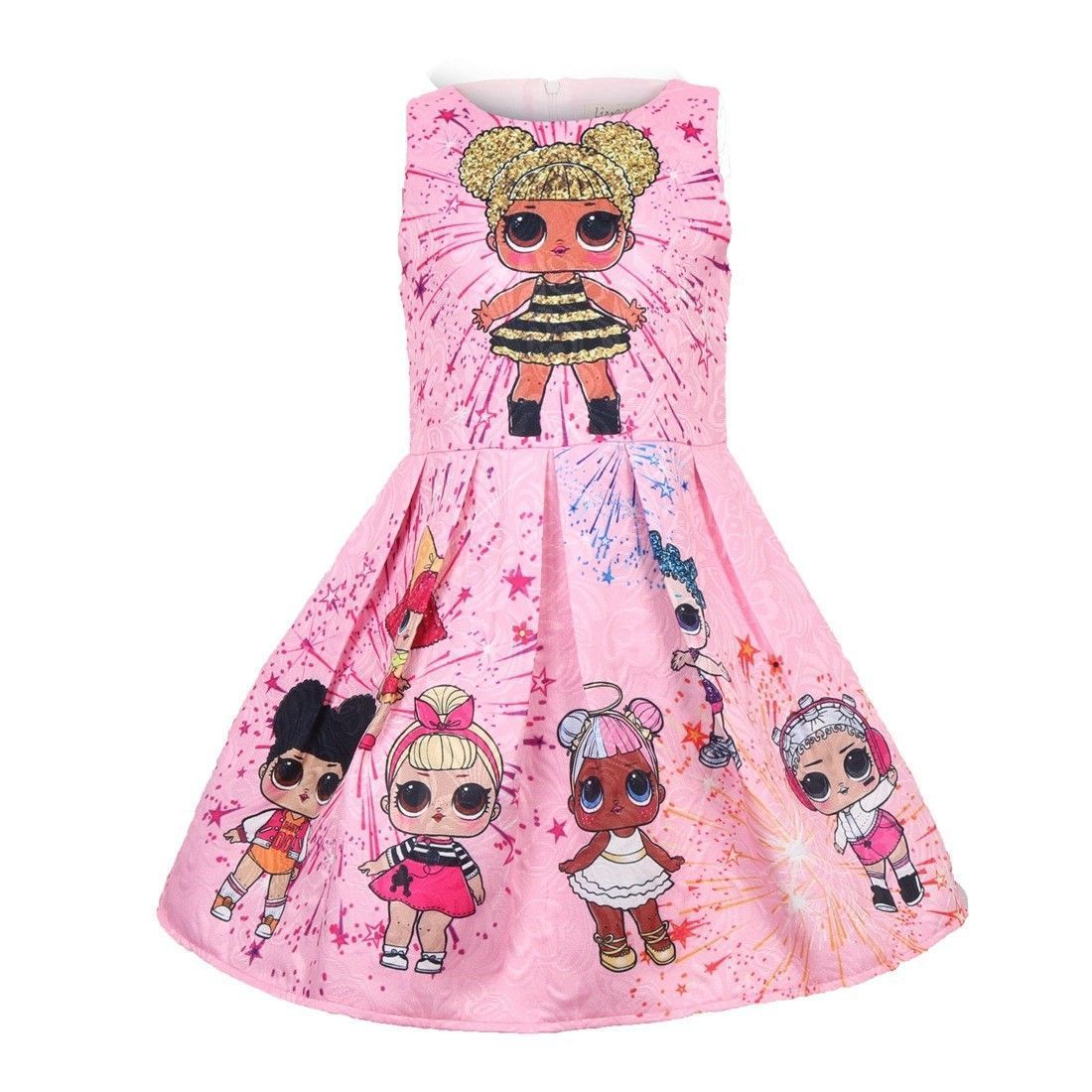 UK LOL Surprise Doll Girls Princess Dress Party Pageant Holiday festival ForKids