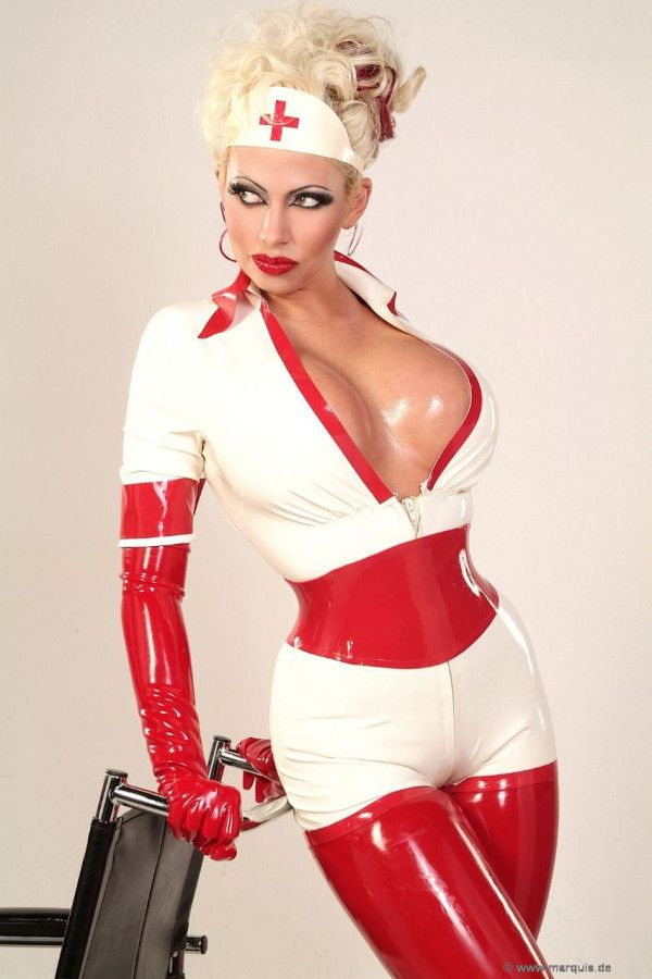 Breasts Female Latex Nurse Pinkworld 1