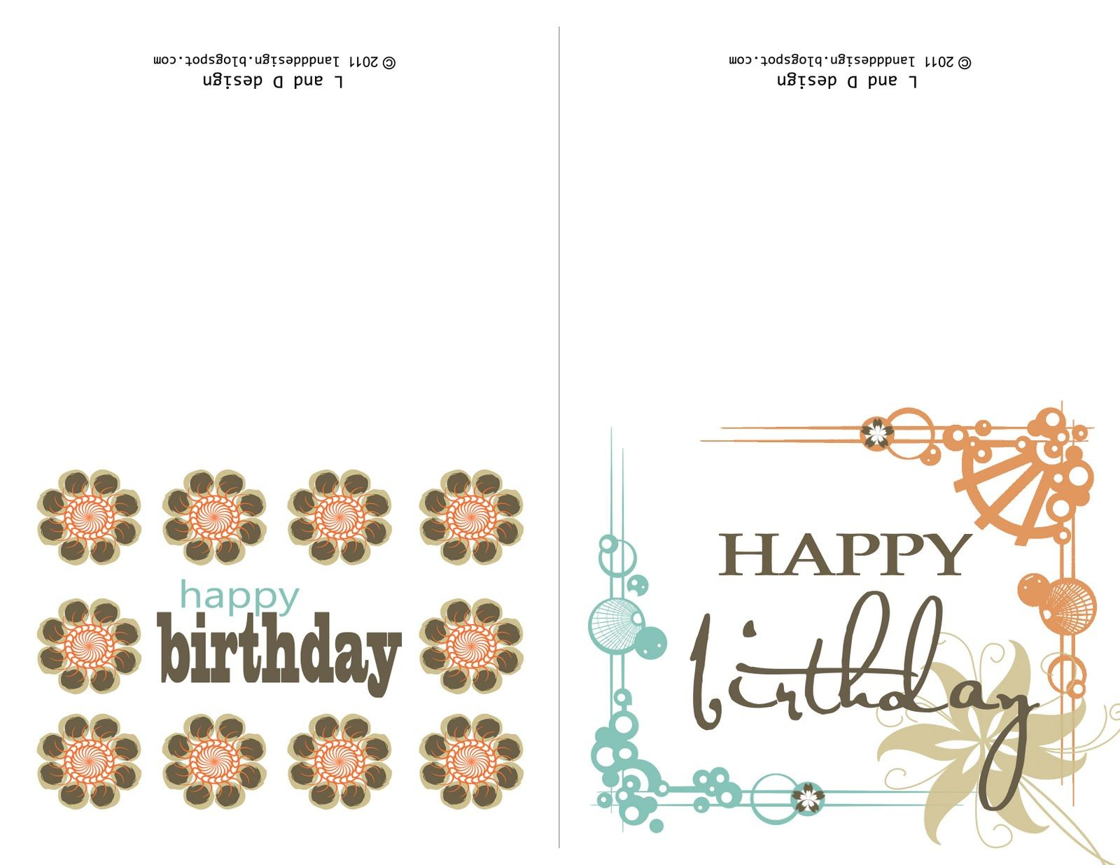 print birthday card