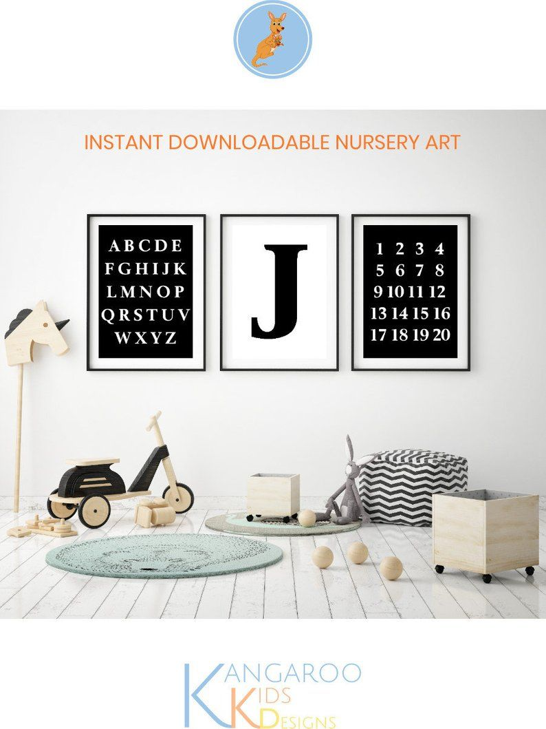 Alphabet Numbers Nursery Wall Print Set Counting Poster Etsy Alphabet Poster Abc Wall Art Art Wall Kids
