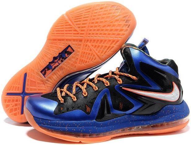 b17098e27077 Lebron 10 P.S Elite Orange Blue Black White