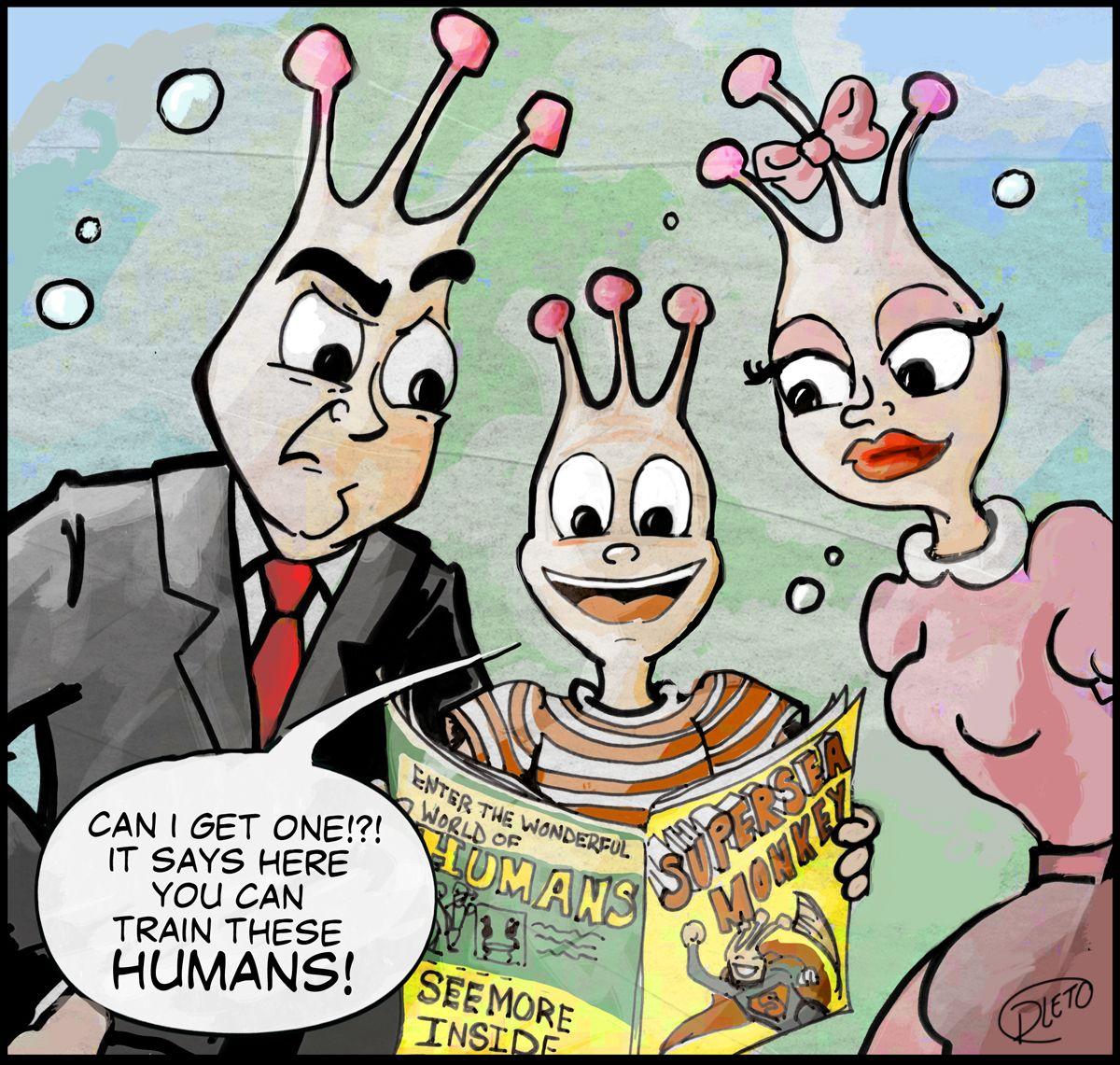 Diana Leto Lil Sea Monkey Switch A Roo Cartoon For You Sea Monkeys Monkeys Funny Fairytale Illustration