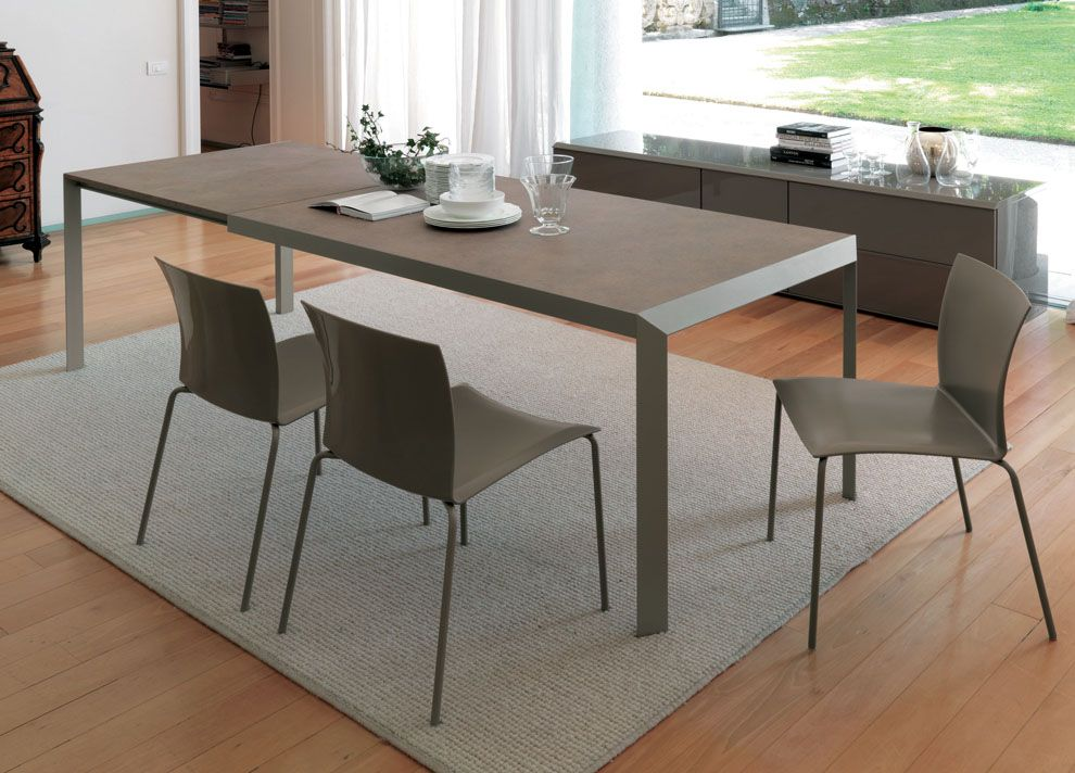 Contemporary Dining Tables Extendable For Modern Homes Bontempi Izac Extending Dining Tab Modern Dining Table Modern Kitchen Tables Contemporary Dining Table