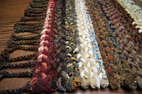 Hand Woven Rag Rug Twined Loom Rug In Country Colors With Twisted Fringe Ends Handmade Rag Rug Hand Woven Rag Rug Rugs