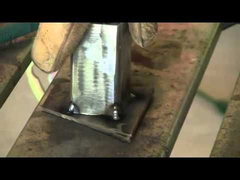 Mig Welding Procedure Discover How To Weld Square Tubing To Flat Bar To Create Amazing Projects Youtube Mig Welding Welding Process Welding Crafts
