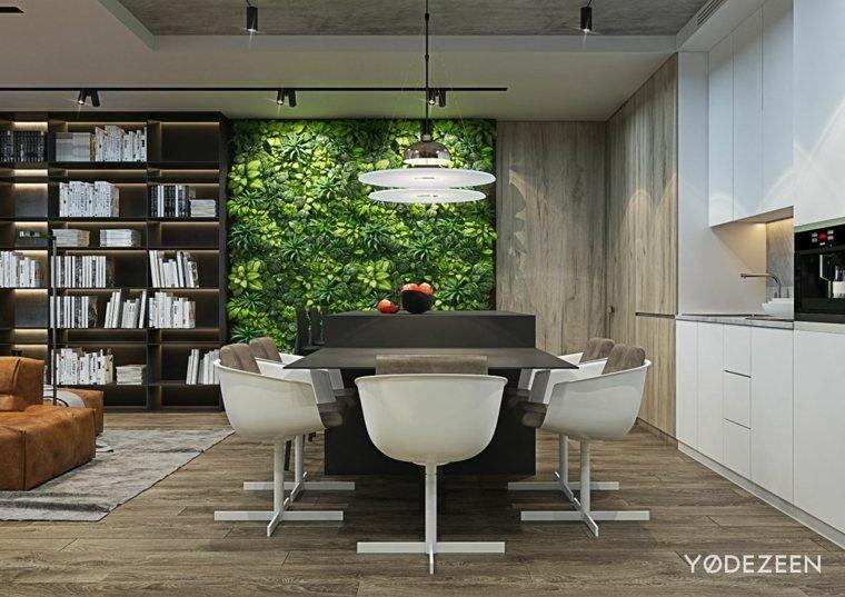Design Interieur Moderne Mur Vegetale Moderne Tendance Idee