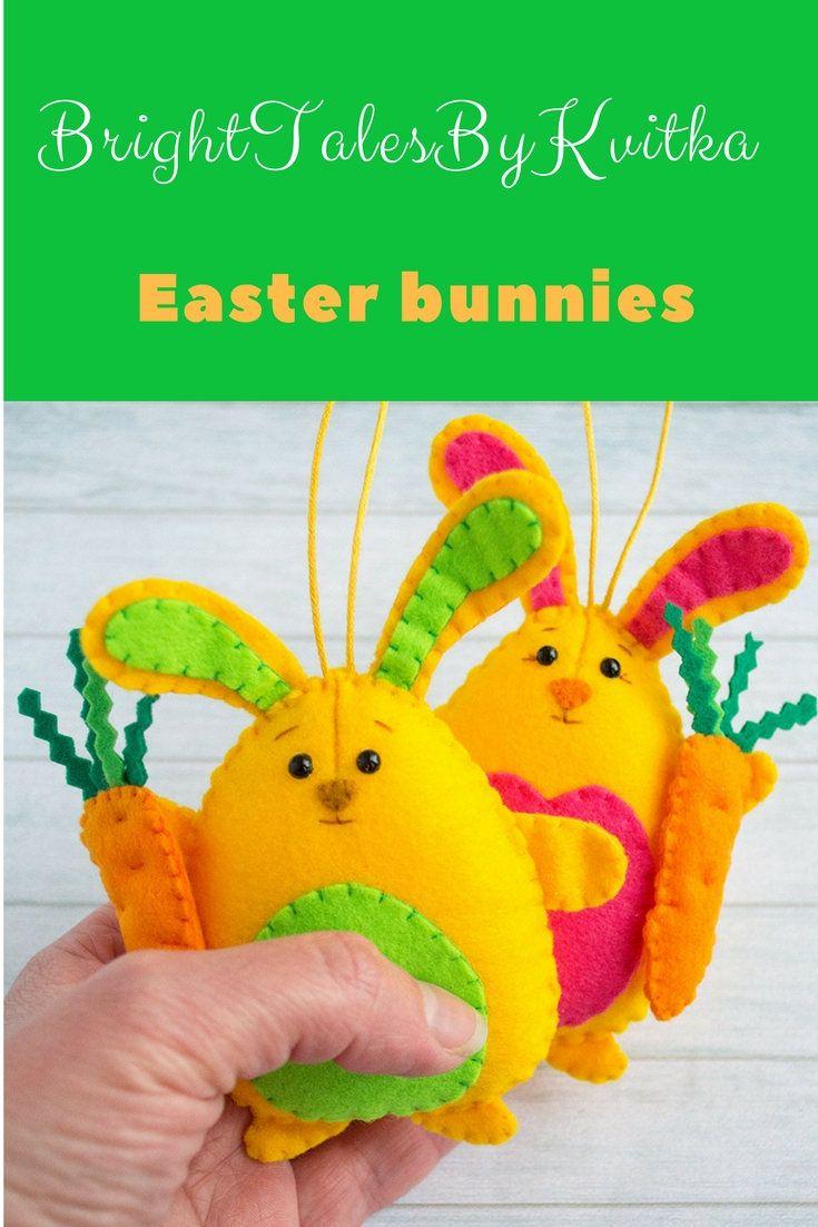 Easter decor easter bunny cute bunny rabbit decor kawaii
