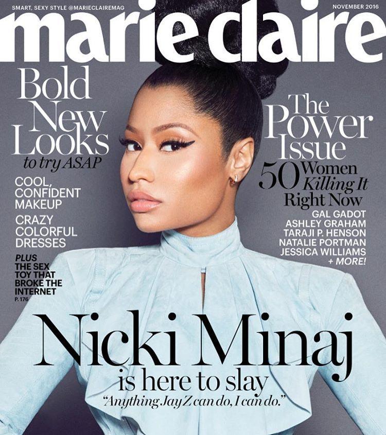 Nicki Minaj for Marie Claire - November 2016