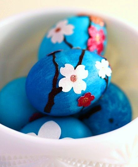 Dress up Easter eggs with stickers... http://www.thetastefullife.com/blog/2012/03/02/glittery-easter-eggs/