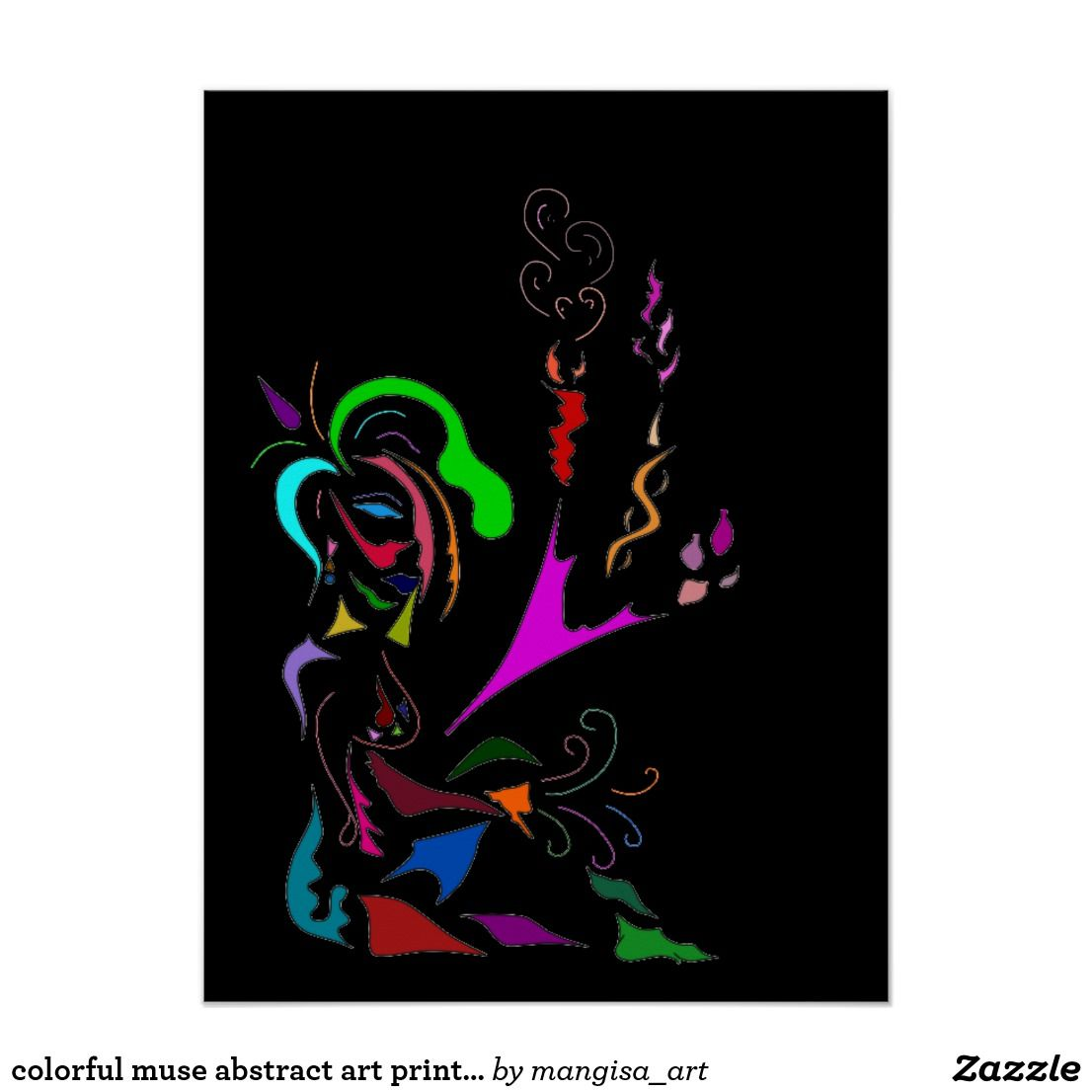 Zazzle poster design - Colorful Muse Abstract Art Print On Poster