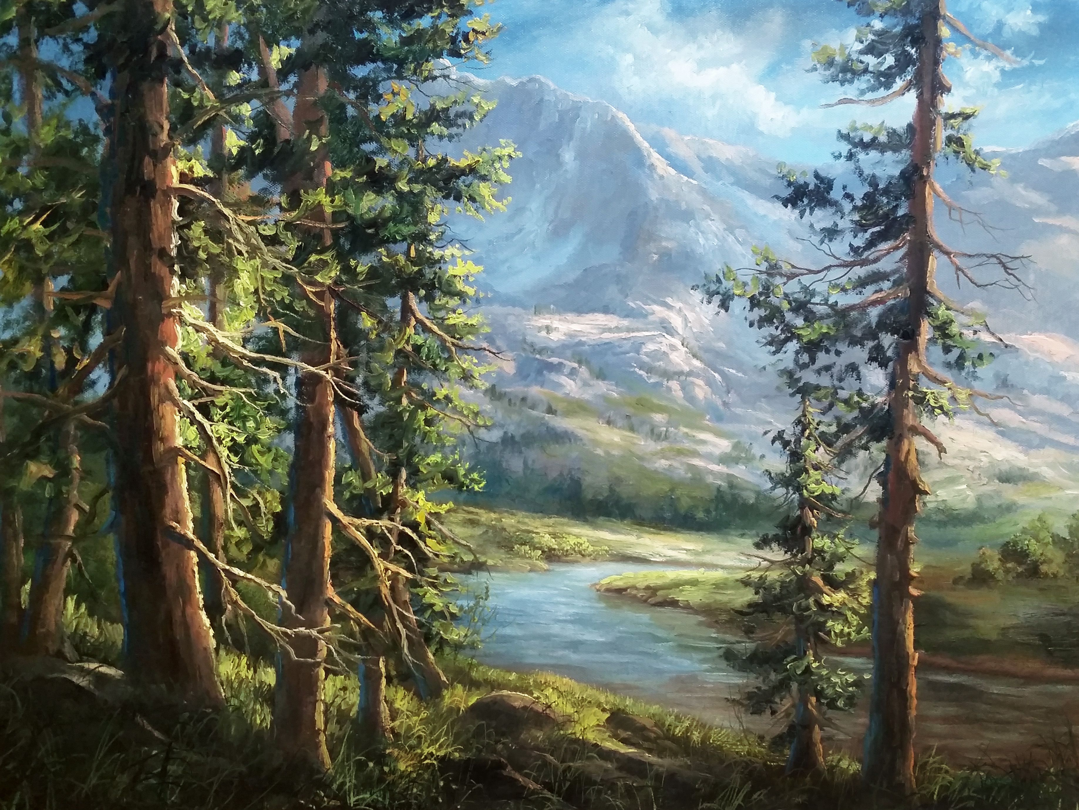 """The Hidden Mountain"" Oil Painting by Kevin Hill Watch"