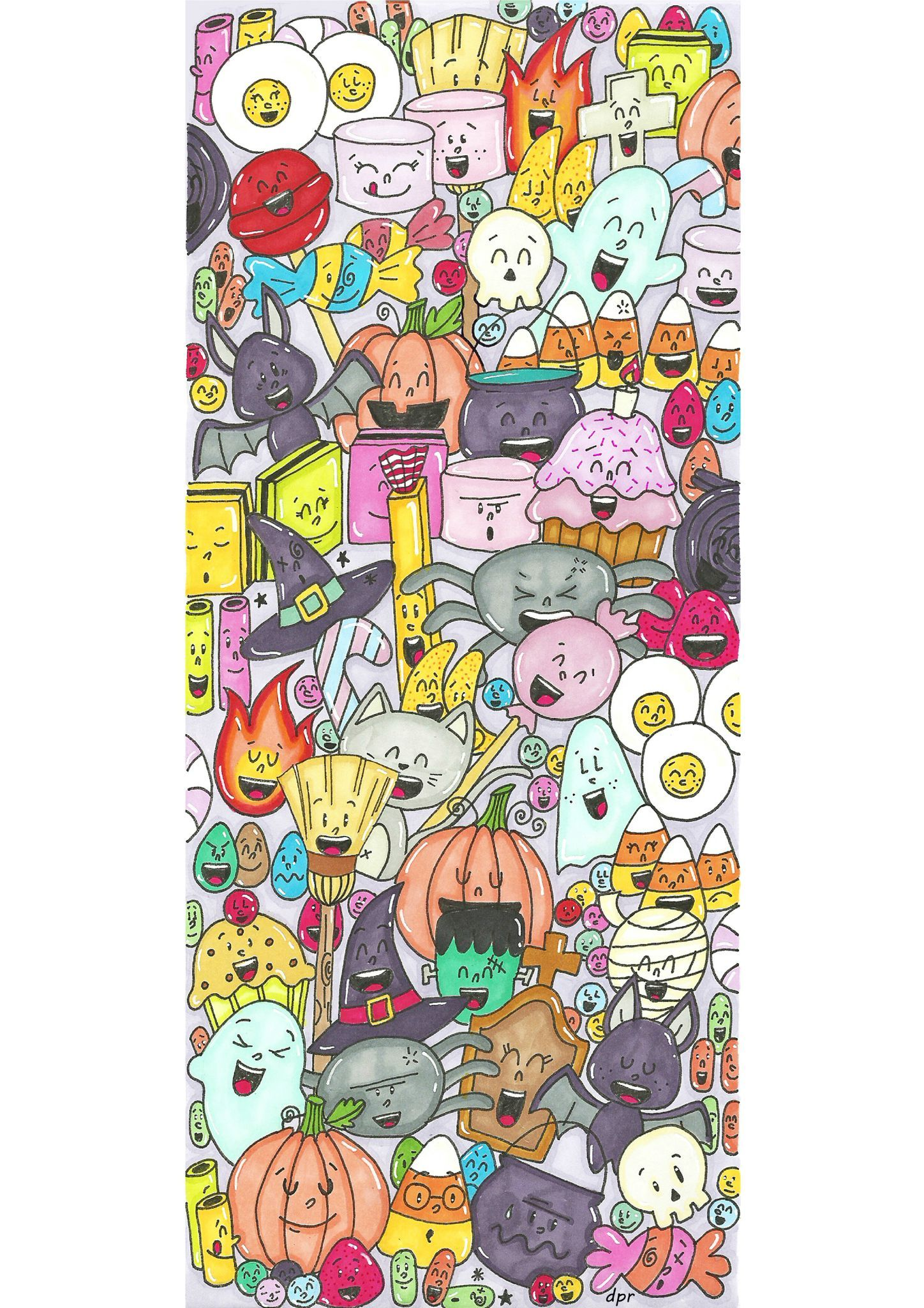 Halloween Coloring Pinterest