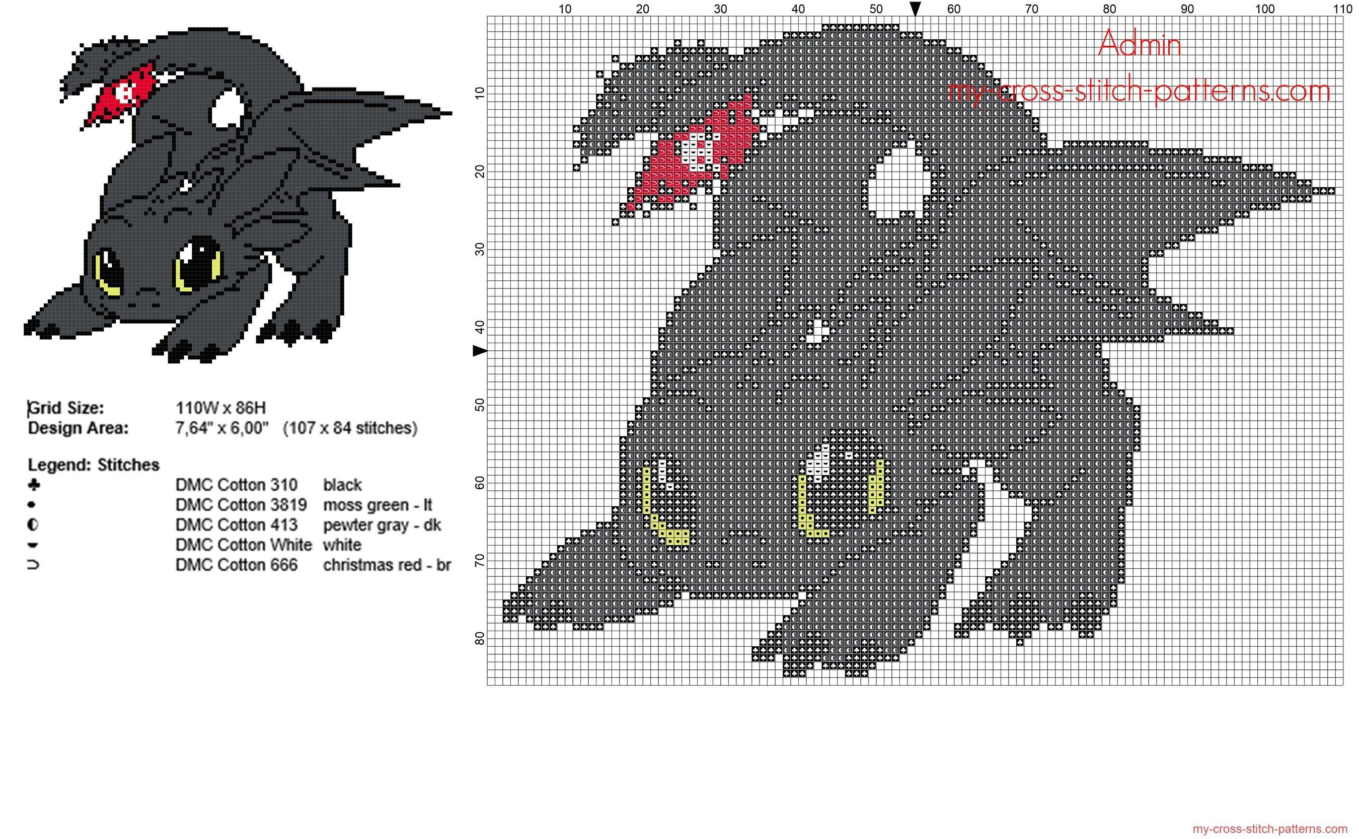 El dragón Furia Nocturna de Cómo entrenar a tu dragón patron punto ...