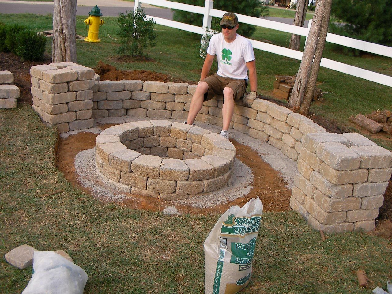 how to build a backyard fire pit with rocks