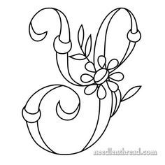 Monogram for Hand Embroidery: 'Y' from the fabulous Mary Corbet