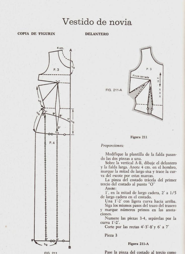 romi w: patrones vestido de novia | moldes | Pinterest | Vestidos de ...