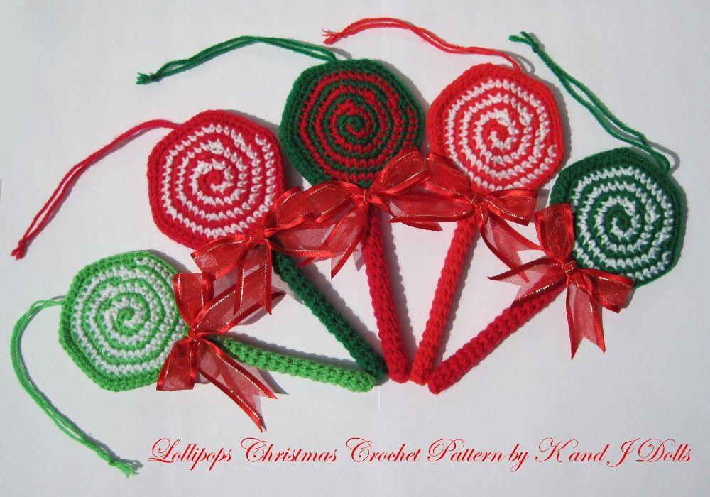 Lollipop crochet pattern   Weihnachten und Häkeln