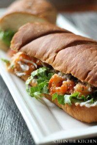 Buffalo Shrimp Po'Boys!  A must -have for your Southern recipe repertoire! #buffaloshrimp