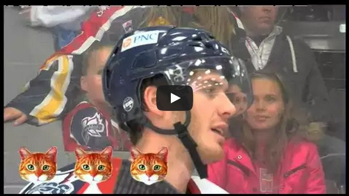 So Funny! This Hockey Player 'Meows' 7 Times During a TV Interview!  - http://www.mustwatchnow.com/funny-hockey-player-meows-7-times-tv-interview/