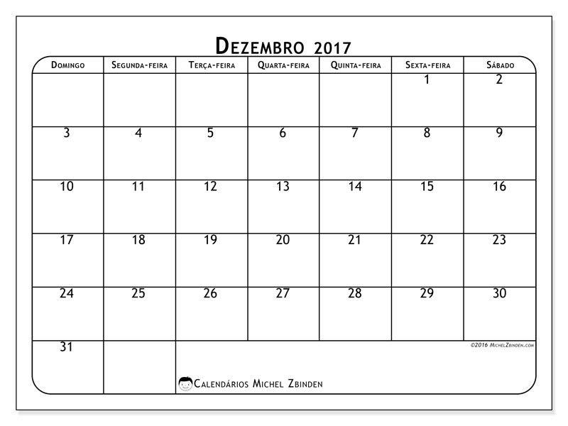 Livre Calendários Para Dezembro 2017 Para Imprimir Imprimir