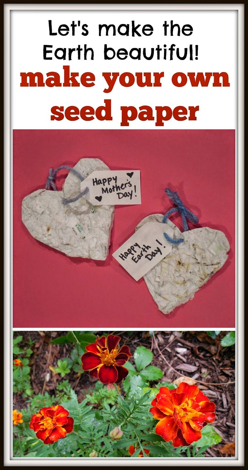 seed paper to make with your students or children a great earth