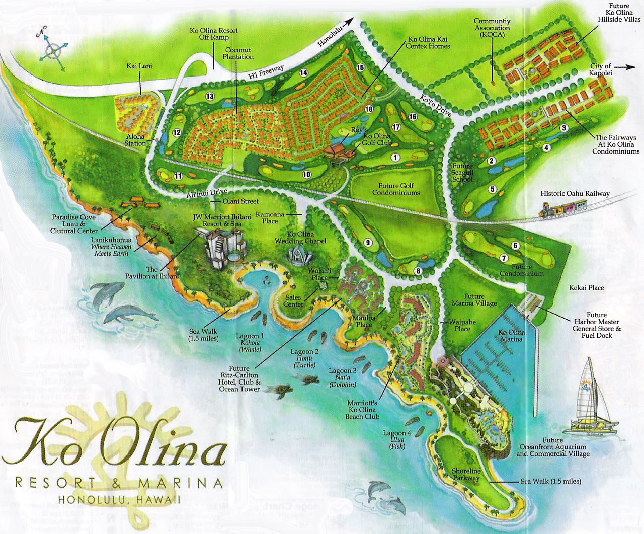 Koolina Resort Hawaii Tourist Map - Koolina Resort Hawaii
