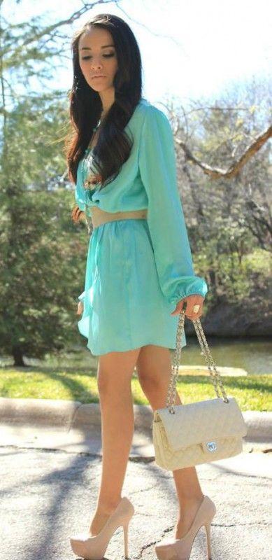 Color zapatos para vestido verde menta