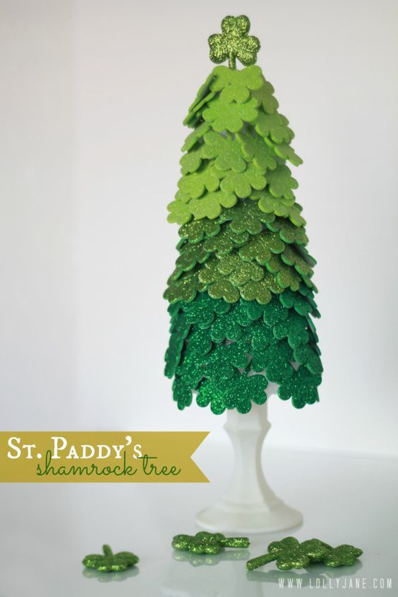 Saint Patrick's Day Four Leaf Clover Topiary Tree - Dollar Tree