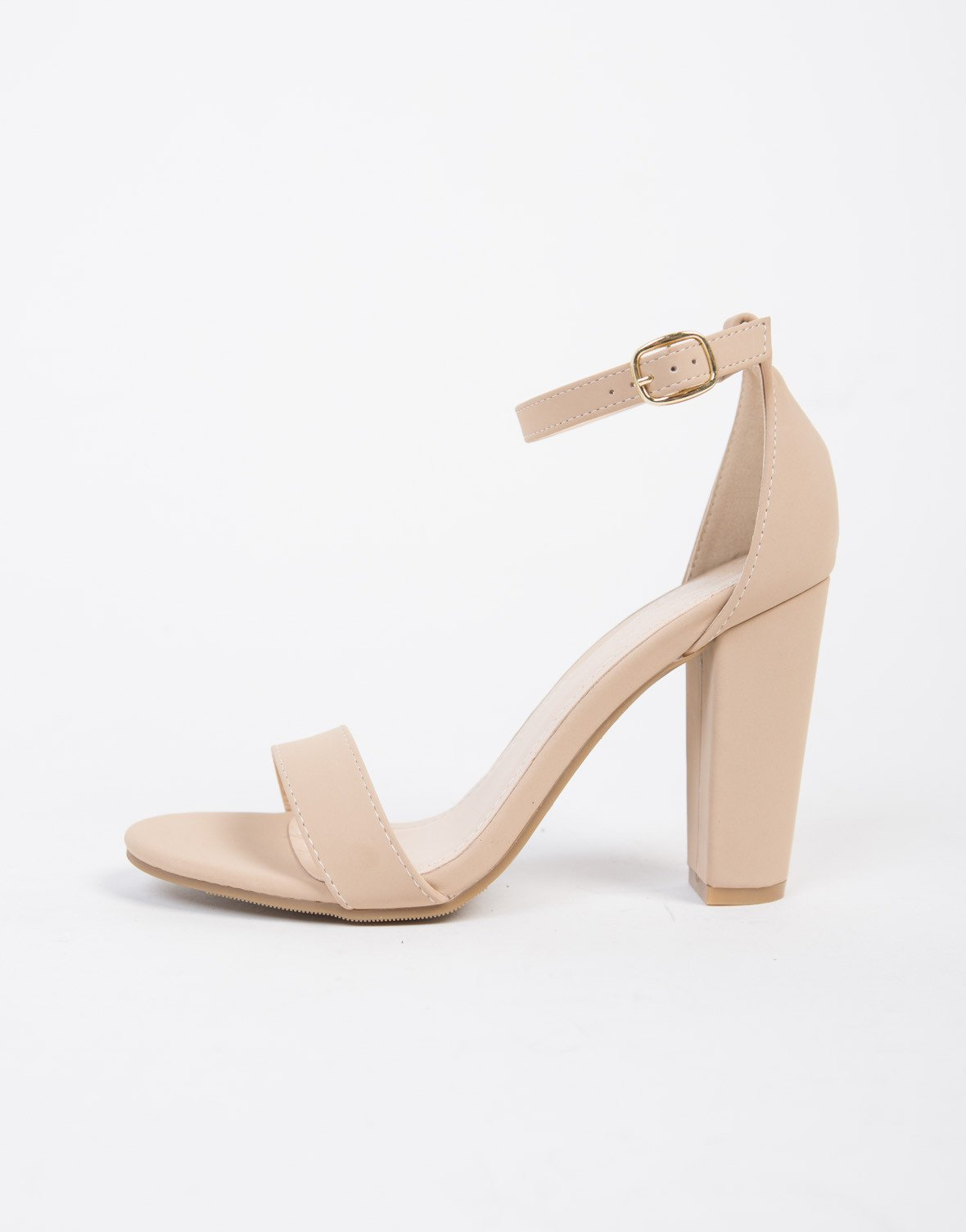 5080b06ec5d8 Chunky Ankle Strapped Sandals. Chunky Ankle Strapped Sandals Nude Heels ...