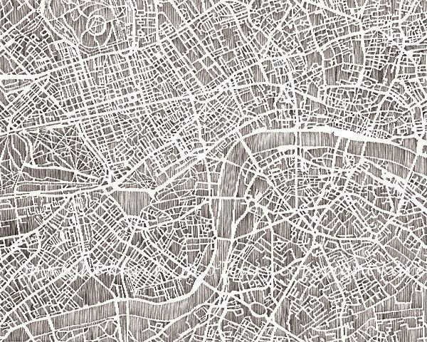 Paper Cut City Maps By Karen O'Leary