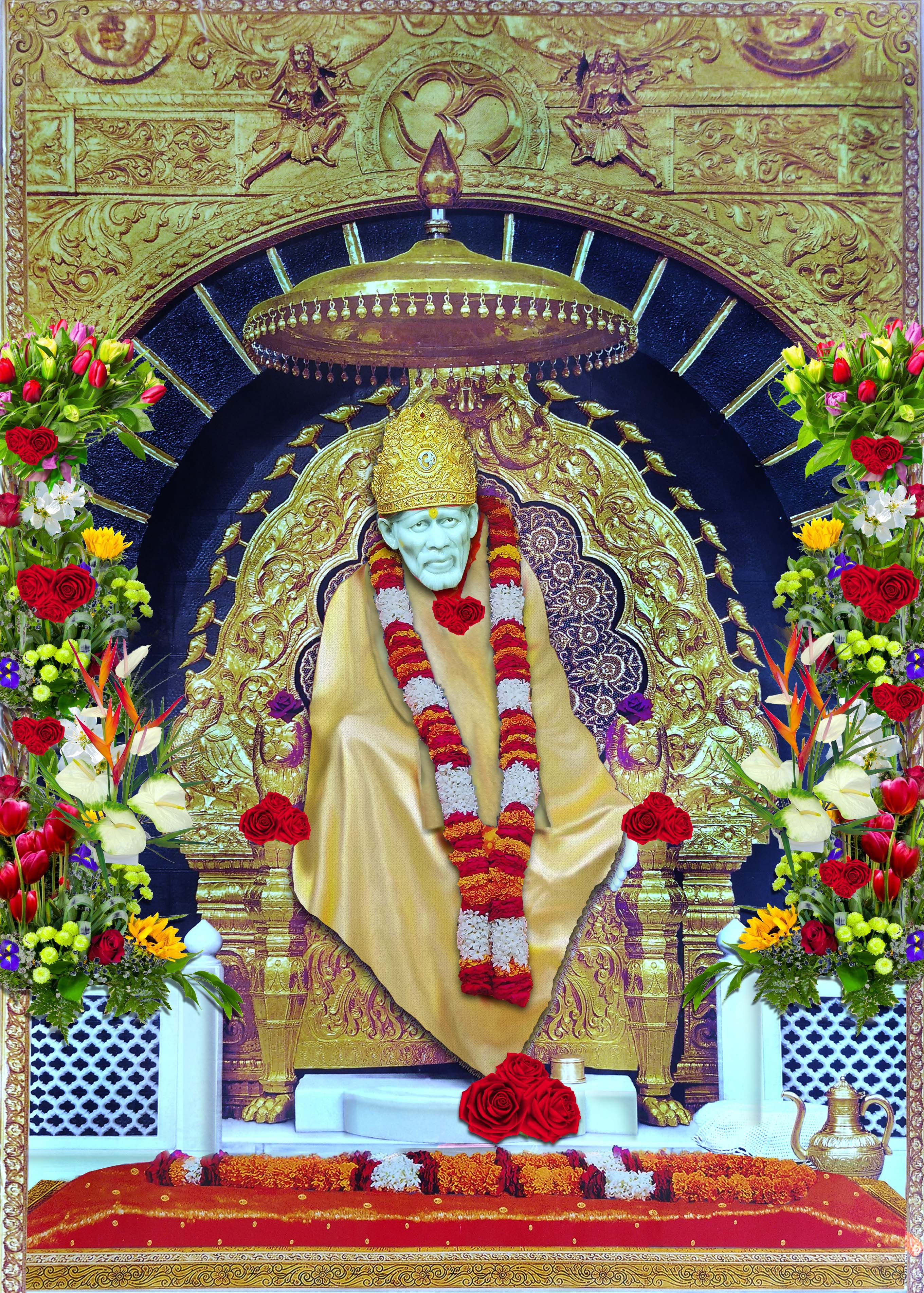 Om Sai Ram Wallpaper With Quotes Bhagwan Ji Help Me Sai Baba